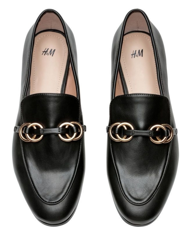 H&M black loafers gucci dupe